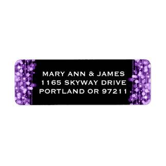 Wedding Address Party Sparkles Purple Label