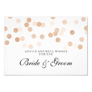 Wedding Advice Card Copper Foil Glitter Lights