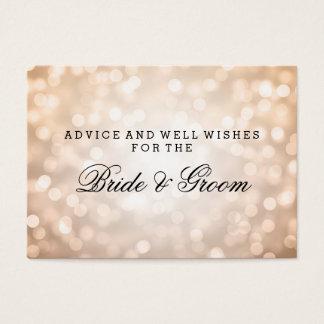 Wedding Advice Card Copper Glitter Lights