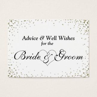 Wedding Advice Card Faux Gold Confetti
