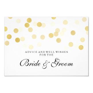 Wedding Advice Card Faux Gold Foil Glitter Lights