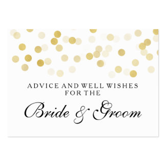 Wedding Advice Card Faux Gold Foil Glitter Lights Large Business Cards (Pack Of 100)