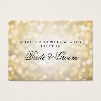 Wedding Advice Card Gold Glitter Lights
