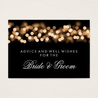 Wedding Advice Card Gold Hollywood Glam