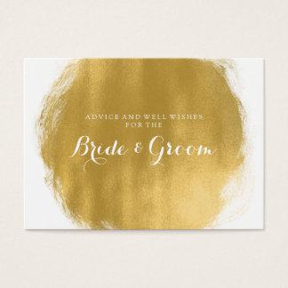 Wedding Advice Card Gold Paint Look