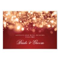 Wedding Advice Card Gold Sparkling Lights