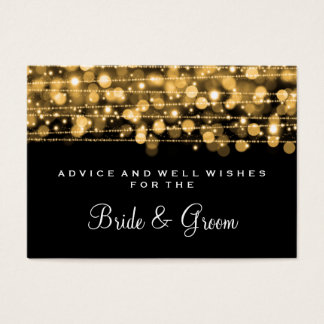 Wedding Advice Card Party Sparkles Gold