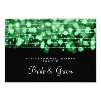 Wedding Advice Card Party Sparkles Green
