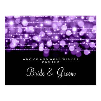 Wedding Advice Card Party Sparkles Purple