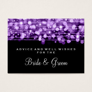 Wedding Advice Card Party Sparkles Purple