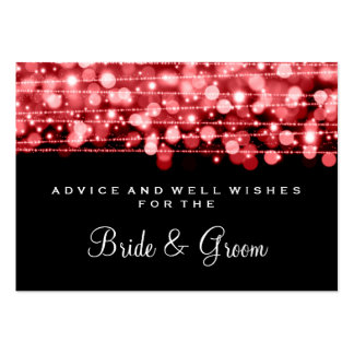 Wedding Advice Card Party Sparkles Red Large Business Cards (Pack Of 100)