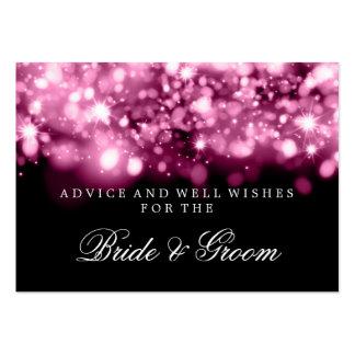 Wedding Advice Card Pink Sparkling Lights Large Business Cards (Pack Of 100)