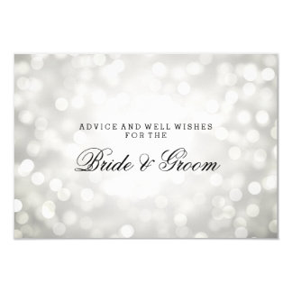 Wedding Advice Card Silver Glitter Lights