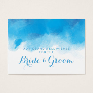 Wedding Advice Card Summer Blue Watercolor