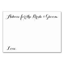 Wedding Advice Cards For The Bride Groom