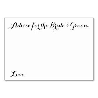 Wedding Advice Cards Advice for the Bride & Groom
