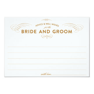 "Wedding Advice Cards 3.5"" X 5"" Invitation Card"