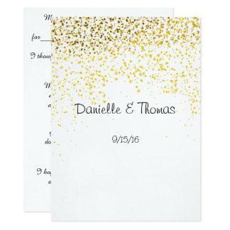 Wedding Advice, Elegant, Gold Confetti Card