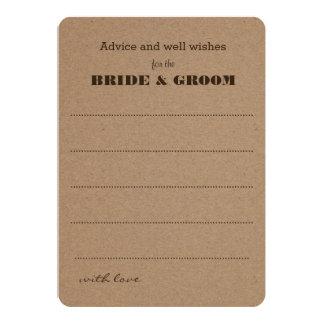 Wedding Advice  | Rustic Kraft Paper Card
