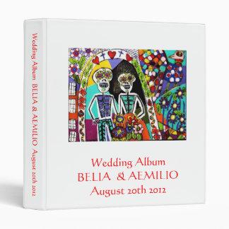 Wedding Album - Day of the Dead Mexican Couple Vinyl Binders