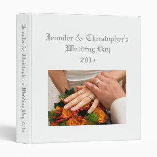 Wedding Album plain white custom photo binder