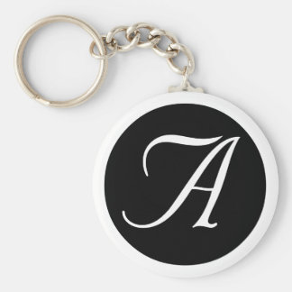 Wedding, All Occasion Monogram Black Key Chain
