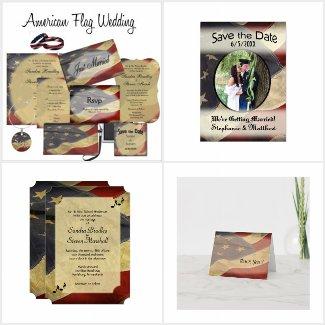 Wedding American Flag Patriotic Suite
