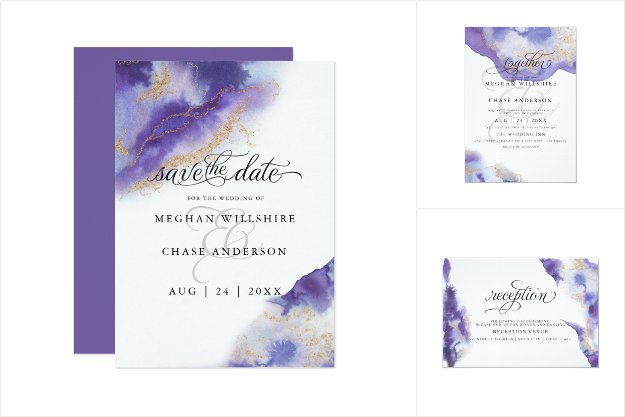 WEDDING | Amethyst Watercolor Geode BarefootBride™
