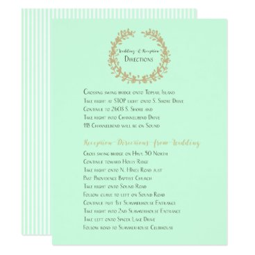 Beach Themed Wedding and Reception Directions Card