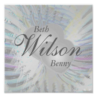 Wedding Angelic Wings Pearly Hearts Poster
