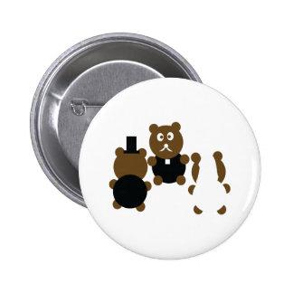 wedding animals pinback button