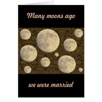 Wedding Aniversary Full Moon Greeting Card