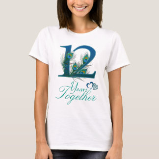 wedding anniversary / 12 / 12th / number 12 T-Shirt