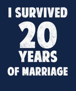 Wedding Anniversary 20th Gift 20 Years Marriage T Shirt