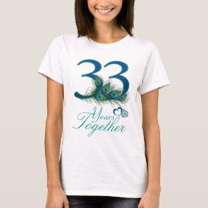 wedding anniversary / 33 / 33rd / number 33 T-Shirt