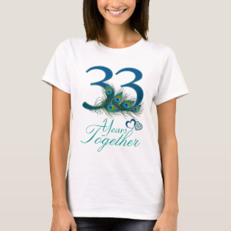 33rd Wedding Anniversary Gift For Husband : 33rd Wedding Anniversary T-Shirts, 33rd Anniversary Gifts