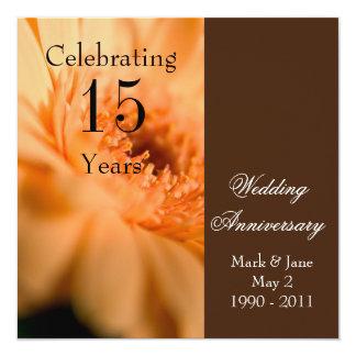 """Wedding Anniversary 5.25"""" Square Invitation Card"""