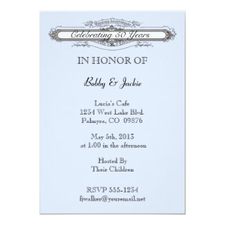 "Wedding Anniversary 5"" X 7"" Invitation Card"