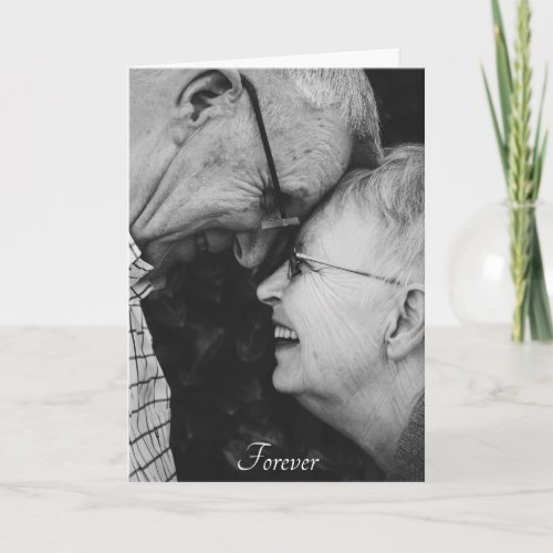 Wedding Anniversary ANY YEAR Custom Photo Card