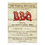 Wedding Anniversary BBQ party invitations