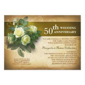 wedding anniversary beautiful vintage invitations