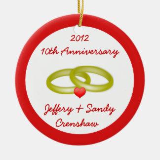 Wedding Anniversary - Christmas Ornament
