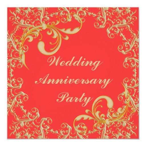 Wedding Anniversary Custom Invitations