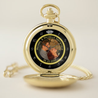 Wedding Anniversary Diamond Ring Photo Frame Names Pocket Watch