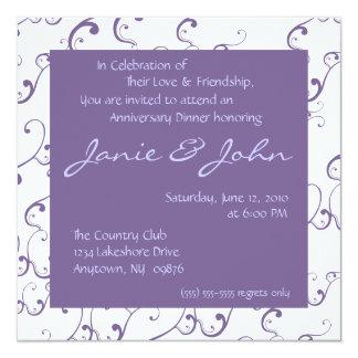 Wedding Anniversary Dinner Invitation