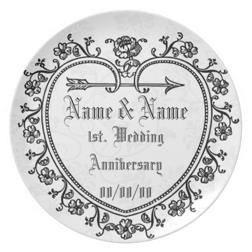 Wedding anniversary edit text plate zazzle
