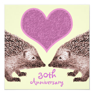 Wedding Anniversary - Faithful Hedgehogs in Love Card