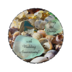 Wedding Anniversary Favors Candy Tins 10th Love at Zazzle