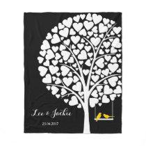 Wedding Anniversary Fleece Blanket personalized