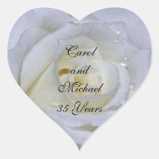 Wedding Anniversary Heart Sticker